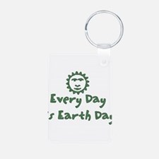 Every Day Is Earth Day Keychains