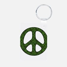 Earth Day Peace Sign Keychains