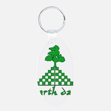 Earth Day Mountain and Tree Keychains