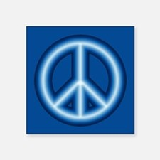 Blue Peace Symbol Sticker