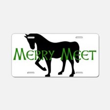 Merry Meet Spirit Horse Aluminum License Plate