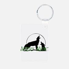 Merry Meet Spirit Wolf Keychains