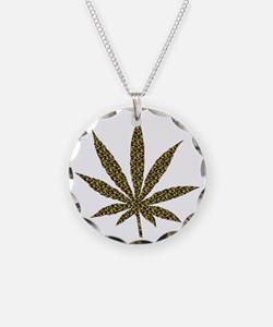 Camouflage Weed Leaf Necklace