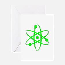 Atom - Light Green Greeting Card