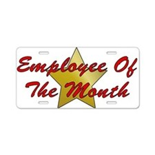 Employee Of The Month Aluminum License Plate