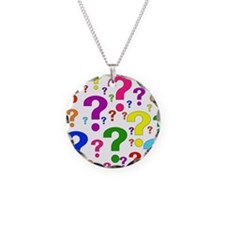 Rainbow Question Marks Necklace