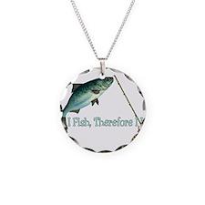 Fisherman Shirt Necklace Circle Charm