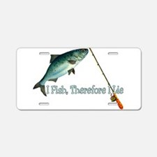 Fisherman Shirt Aluminum License Plate