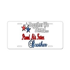 Air Force Brother Aluminum License Plate