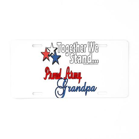 Army Grandpa Aluminum License Plate