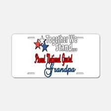 National Guard Grandpa Aluminum License Plate