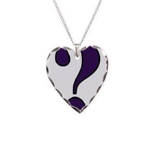 Question Mark Necklace Heart Charm