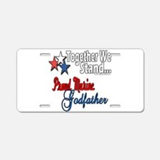 Marine Godfather Aluminum License Plate