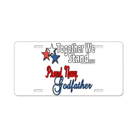 Navy Godfather Aluminum License Plate