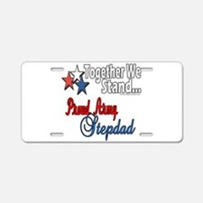 Army Stepdad Aluminum License Plate