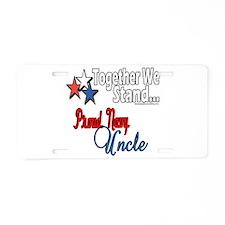 Proud Navy Uncle Aluminum License Plate