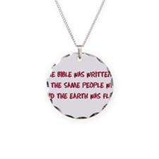 Flat Earth Bible Thumpers Necklace