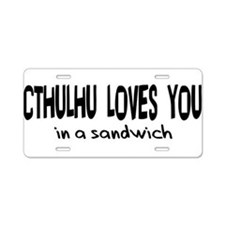 Cthulhu Loves You Aluminum License Plate