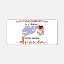 Creationism Aluminum License Plate