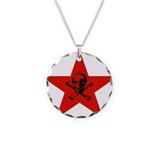 Red Star and Skull Necklace