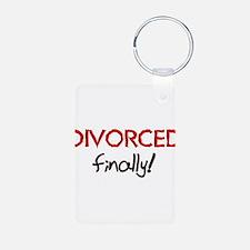 Divorced Finally Keychains