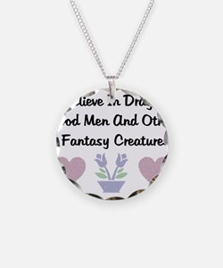 Fantasy Creatures Necklace Circle Charm