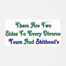 Divorce Aluminum License Plate