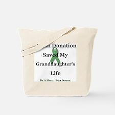 Granddaughter Transplant Tote Bag