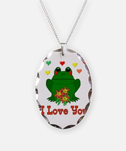 Love Is A Green Frog Necklace