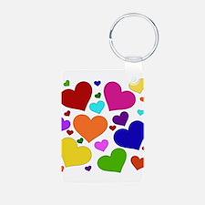 Rainbow Hearts Keychains