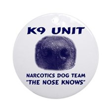 The Nose Knows Ornament (Round)