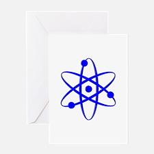 Atom - Blue Greeting Card