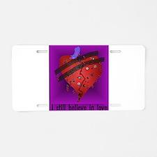 Broken Heart Aluminum License Plate