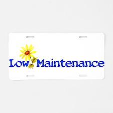 Low Maintenance Aluminum License Plate
