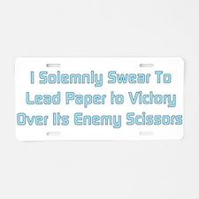 Rock Paper Scissors Aluminum License Plate