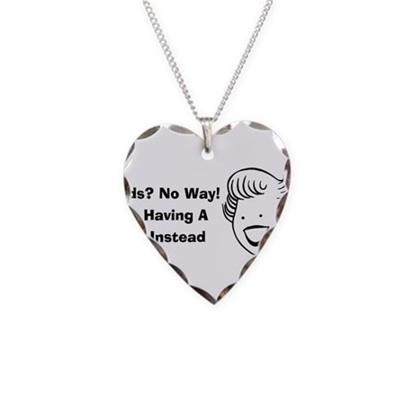 Kids No Way Necklace Heart Charm