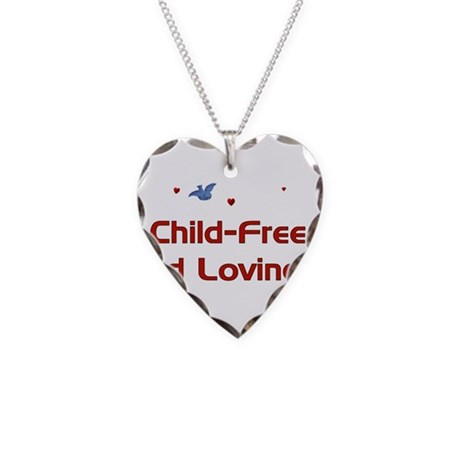 Child Free Necklace Heart Charm