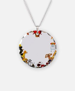Dog Love Necklace Circle Charm