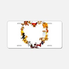 Dog Love Aluminum License Plate