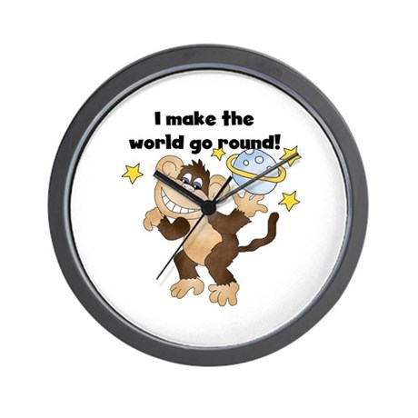 Monkey World Go Round Wall Clock