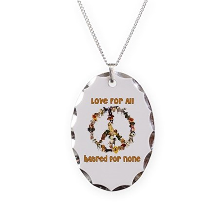 Dogs Of Peace Necklace Oval Charm