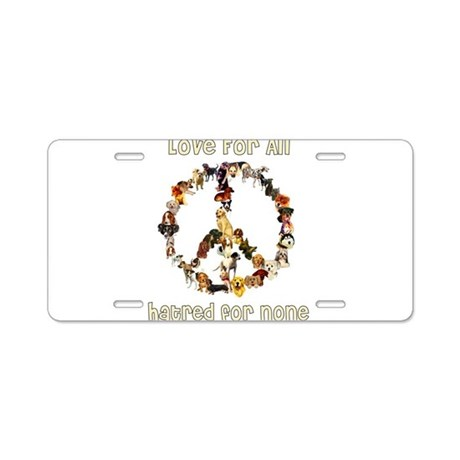 Dogs Of Peace Aluminum License Plate