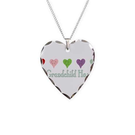 Furry Grandchild Necklace Heart Charm