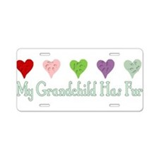 Furry Grandchild Aluminum License Plate