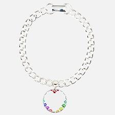 Cat Print Heart Bracelet