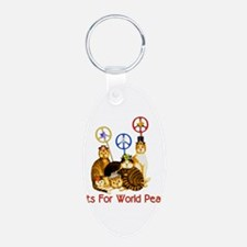 World Peace Cats Keychains