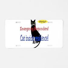 EmergencyResponder Cat Alert Aluminum License Plat