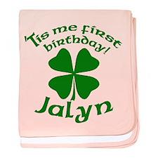 Custom Birthday for Jalyn baby blanket
