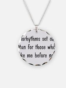 Night Person Biorhythms Necklace Circle Charm