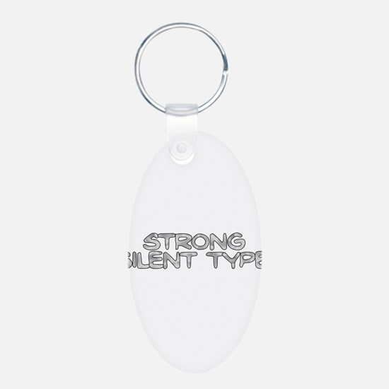 Strong Silent Type Keychains